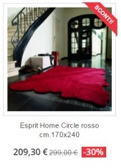 tappeto moderno esprit home circle rosso