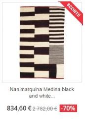 tappeto moderno nanimarquina medina black white