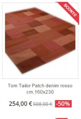 tappeto moderno tom tailor patchwork