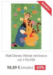 tappeto bambini walt disney winnie bosco
