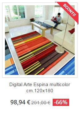 tappeto moderno digital arte espina