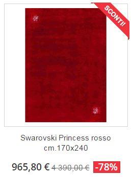 tappeto moderno swarovski princess