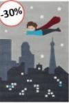tappeti-bambini-superman-grigio