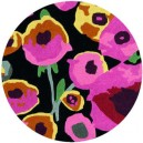 tappeto-rotondo-poppies-black-multi