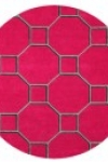tappeto-rotondo-hexagon-red