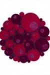 tappeto-rotondo-minerali-vitalize-rosso