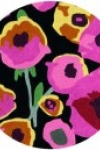 tappeto-rotondo-poppies-black-multi
