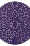 tappeto-rotondo-snow-purple