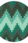 tappeto-rotondo-zig-zag-teal