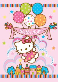 tappeti bambini Hello Kitty palloncini