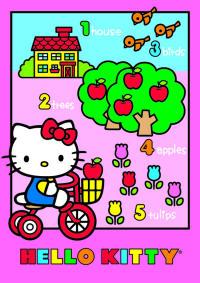 tappeti bambini Hello Kitty bici
