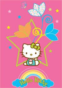 tappeti bambini Hello Kitty stella