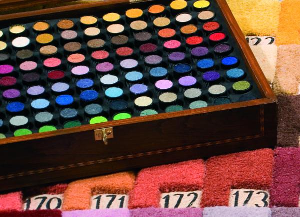 tappeti su misura: campionario colori lana