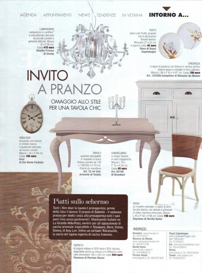 La rivista cose di casa pubblica il tappeto moderno florence - Cose di casa abbonamento ...