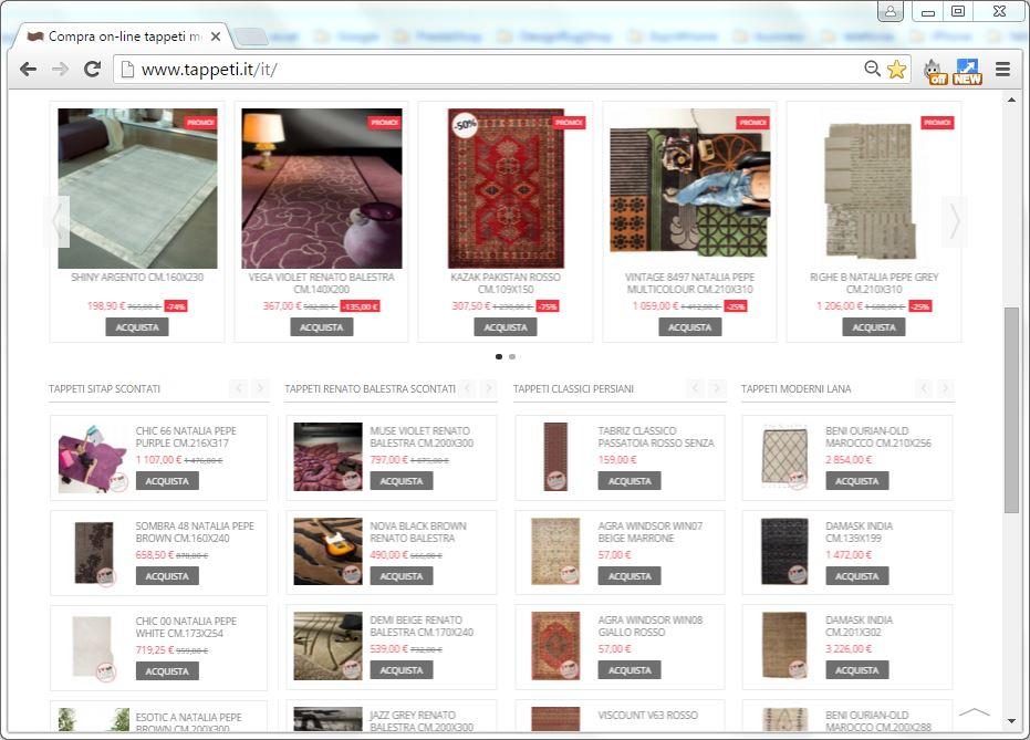 negozio on-line di tappeti moderni