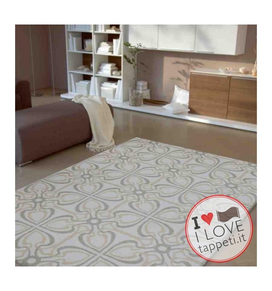 tappeto moderno Wissenbach Romantic touch crema oro geometrico