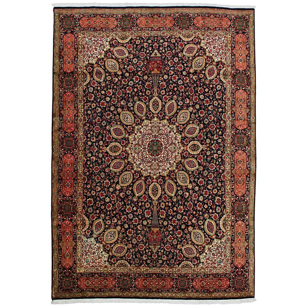 tappeto persiano Tabriz ispirato al più antico tappeto Ardebil del 1539 esposto al Victoria & Albert Museum di Londra