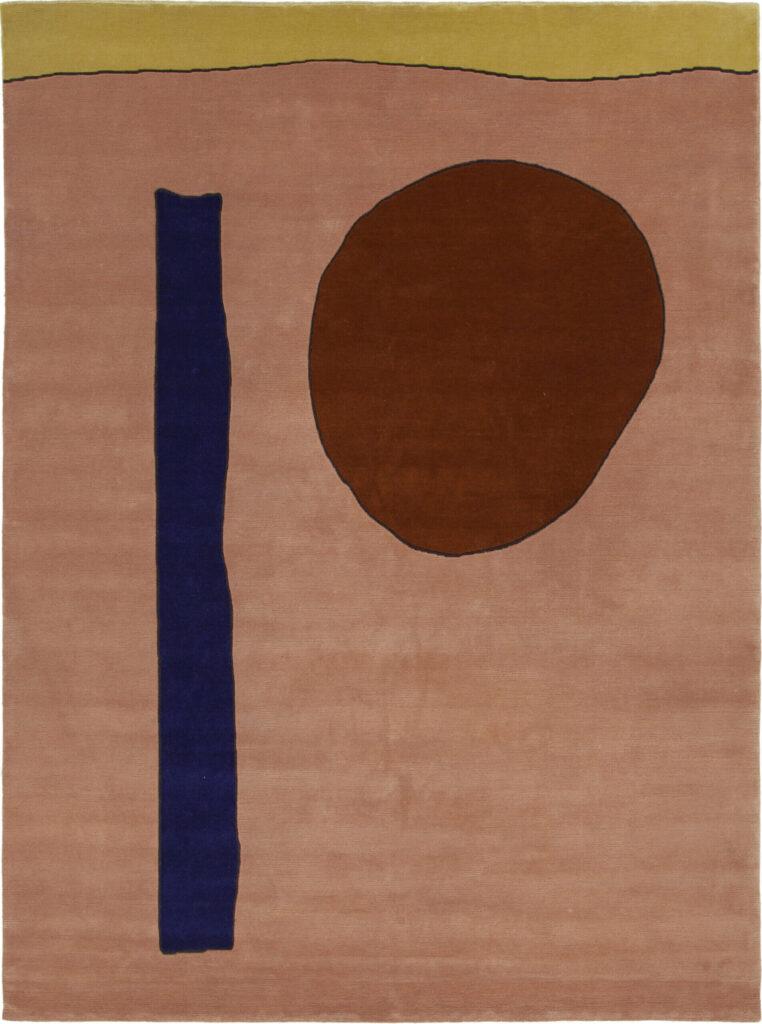 uno degli otto tappeti moderni della collezione Ritalgi di Amini