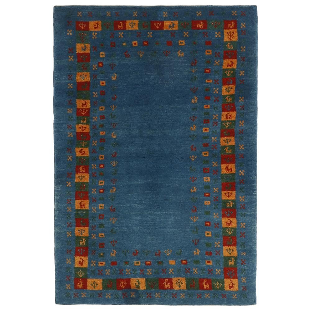 uno dei motivi più comuni sui tappeti nomadi Gabbeh dalla Persia