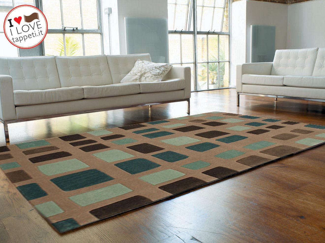 Free tappeto moderno cuadros blu il blog dei tappeti with - Tappeti per soggiorno moderni ...