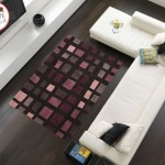 tappeto moderno cuadros nero viola
