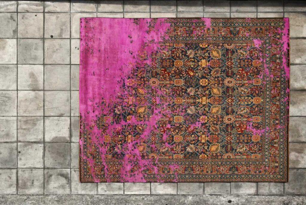 tappeto moderno fatto a mano in Nepal del design Jan Kath collezione Erased Heritage