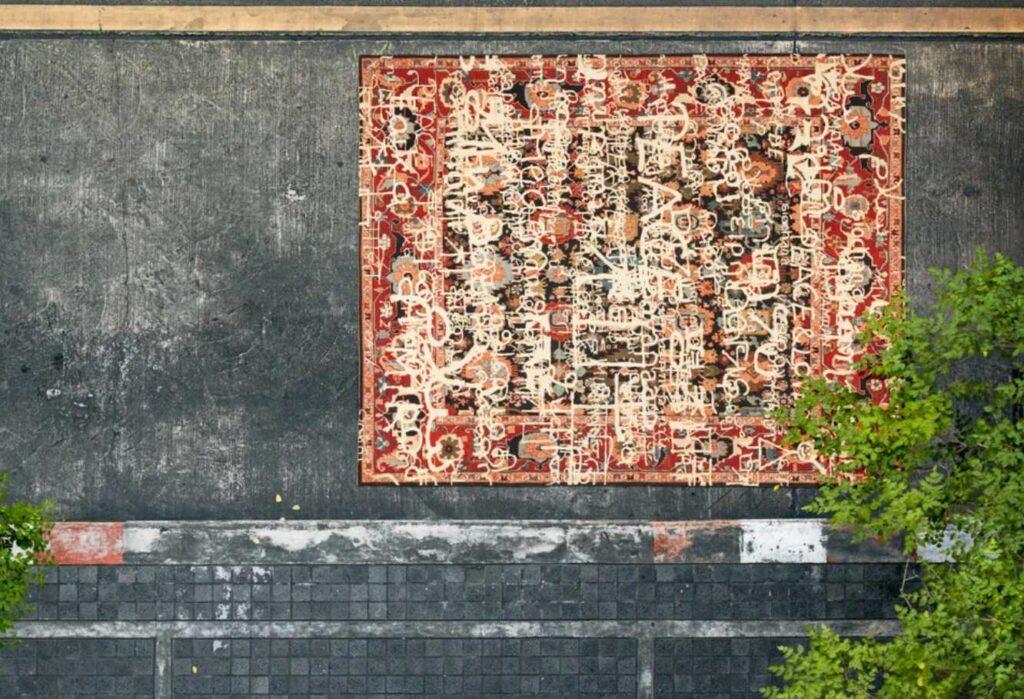 tappeto moderno fatto a mano del design Jan Kath collezione Erased Heritage