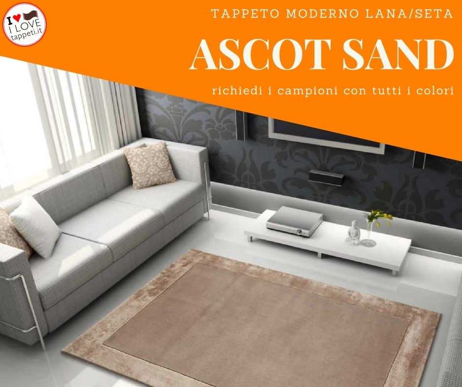 il tappeto moderno in tinta unita Ascot si ambienta facilmente con gli arredi contemporanei