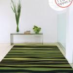 tappeto moderno onda verde