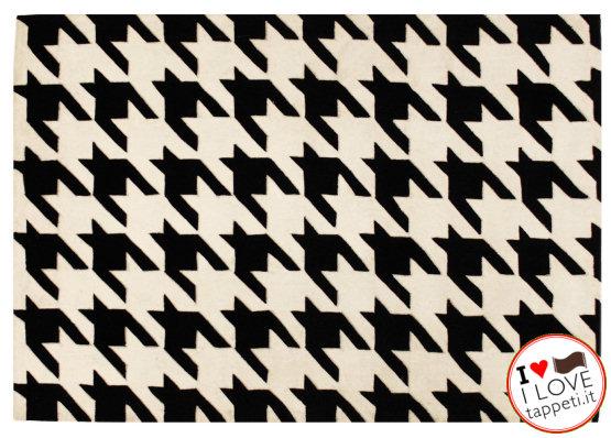 tappeto moderno pied de poule