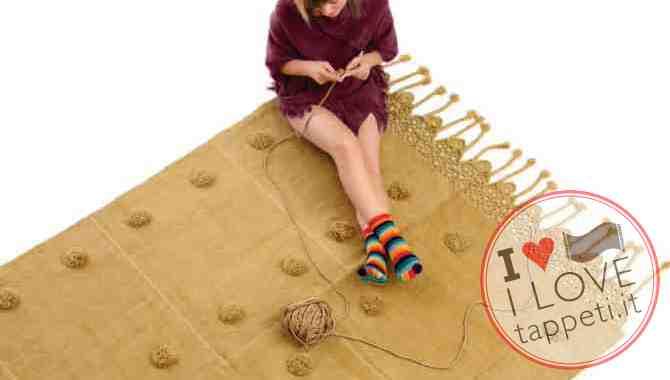 tappeto moderno Pompon di Natalia Pepe per SITAP