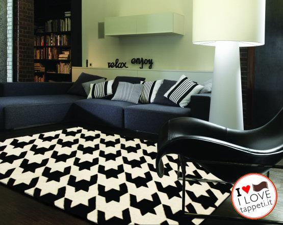 tappeto moderno bianco e nero su io donna » il blog dei tappeti