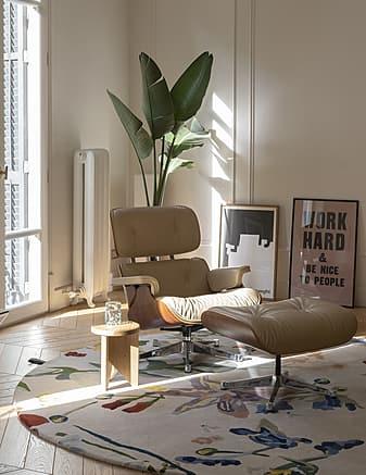 tappeto moderno Flora Promenade rotondo dell'artista Santi Moix prodotto dall'azienda Nanimarquina