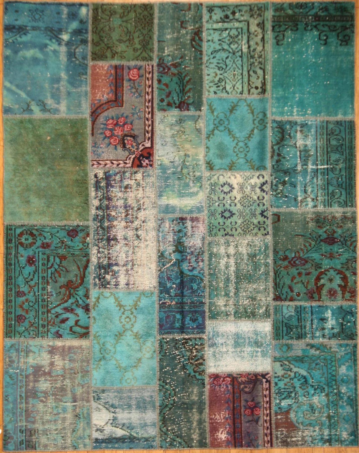 Nuova tendenza dei tappeti patchwork colori acidi il blog dei tappeti - Tappeti moderni verde acido ...