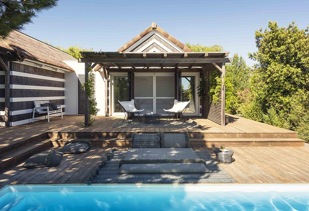 tappeto per esterno GAN modello Garden Layes di Patricia Urquiola