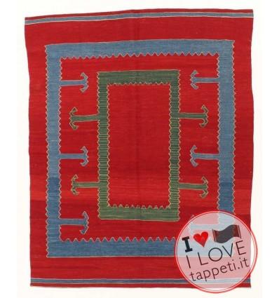 tappeto turco tradizionale con lavorazione Kilim