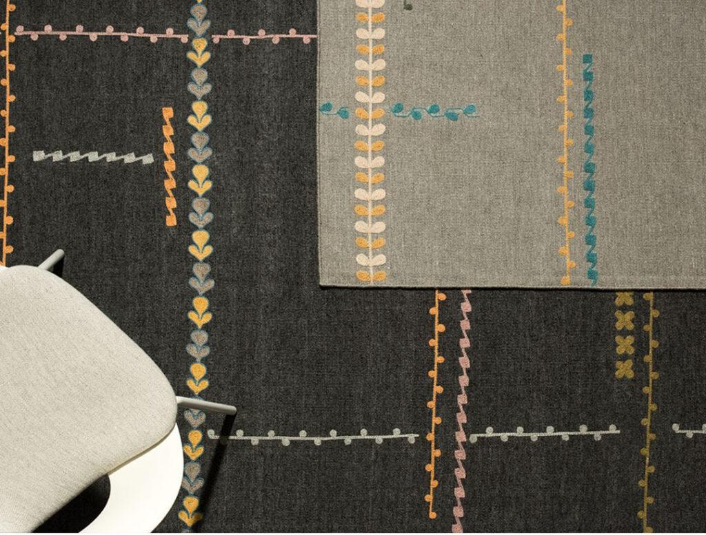 nuova collezione Damasco di Warli è tappeto ispirato al kilim