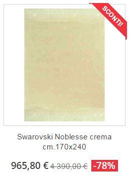 tappeto moderno swarovski noblesse crema